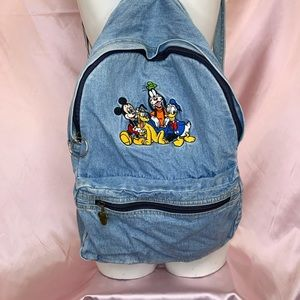 Vintage Mickey and Friends denim backpack❤️🏰